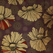 Art floral ornament grunge background — 图库照片
