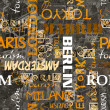 Art vintage word pattern background - Stock Photo