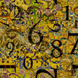 Stock Photo: Art grunge background with numbers