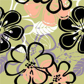 Art vintage floral seamless pattern background — 图库照片
