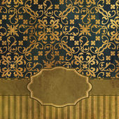 Art vintage damask seamless pattern background — 图库照片