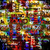 艺术城市涂鸦栅格背景 — 图库照片