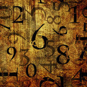 Art grunge background with numbers — Stock Photo