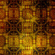Art vintage grunge background with damask  patterns — ストック写真