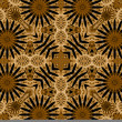 Art vintage damask seamless pattern background — Stock Photo