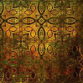 Fondo de arte vintage damasco inconsútil — Foto de Stock