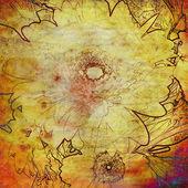 искусство цветочный гранж-фон — Стоковое фото