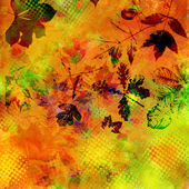 Art leaves autumn background card — Стоковое фото