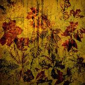 Arte folhas de outono cartão de plano de fundo — Foto Stock