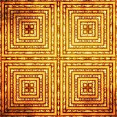 Fondo de arte vintage grunge con patrones de damasco — Foto de Stock