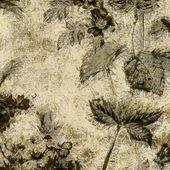 Fond vintage motif floral art — Photo