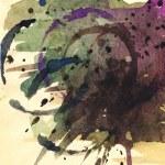 Aquarellpapier Hintergrund Kunst abstrakt colorfur — Stockfoto
