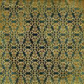 Kunst vintage shabby achtergrond met damast patronen — Stockfoto