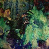 Arte floral vintage colores de fondo — Foto de Stock