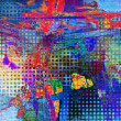 Art abstract rainbow pattern background - Foto Stock