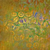Art floral fond graphique de dessin — Photo