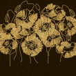 Art floral ornament vintage background — Foto de Stock