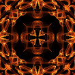 Art vintage fiery geometric ornamental pattern - Stock Photo