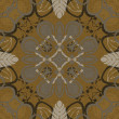 Art vintage damask seamless pattern background - Foto Stock