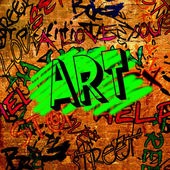 Art urban graffiti raster background — 图库照片