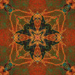 Art nuvo colorful ornamental vintage pattern - Stock fotografie