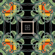 Art nuvo colorful ornamental vintage pattern — Foto de Stock