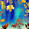 Art leaves autumn background card - Lizenzfreies Foto