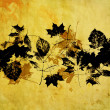 Art leaves autumn background card — Stock Photo