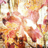 Arte floreale vintage fondo colorato — Foto Stock