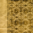 Art vintage grunge background with damask  patterns — Stock Photo