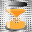 Decorative hourglass — Stock Vector