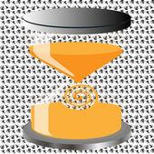 装飾的な砂時計 — ストックベクタ