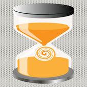 Decorative Figure an hourglass — Stockvektor