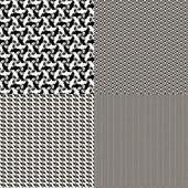 A set of four decorative texture — Stock Vector