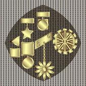 Decorative award — Stok Vektör
