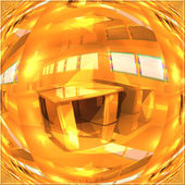 The interior of the room with the optical distortions — Stockfoto