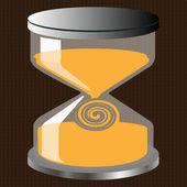 Decorative hourglass figure — Stock Vector