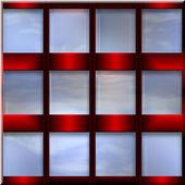 Decorative set of windows — Stock Photo