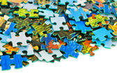 Heap of puzzle — Stock Photo
