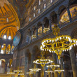 Hagia Sophia interior at Istanbul Turkey - 图库照片