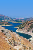 View from ancient city of Pergamon to the lake - Turkey — Stock Photo