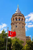 Galata tower at Istanbul Turkey — Stock Photo
