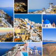 Collage of Santorini (Greece) images — Stock Photo