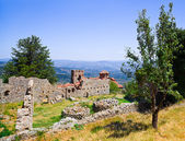 Ruins of old town in Mystras, Greece — Stock Photo