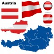Austria vector set. — Stock Vector