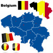 Belgium vector set. — Stock Vector