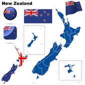 New Zealand vector set. — Stock Vector