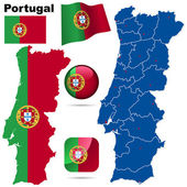 Portugal vector set — Stock Vector