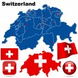 Royalty-Free Stock Vektorfiler: Switzerland vector set.