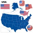 USA vector set. - Stock Vector